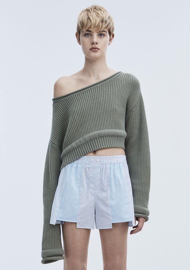 T by ALEXANDER WANG new-arrivals-t-by-alexander-wang-woman CHUNKY KNIT PULLOVER