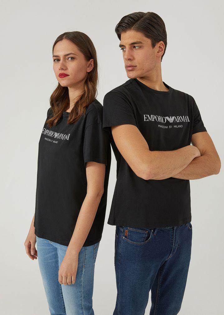 3c8874b4d4 T-shirt unisexe en jersey de coton avec imprimé
