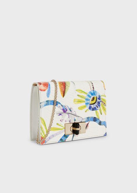 Borgonuovo 11 Floral snakeskin shoulder bag