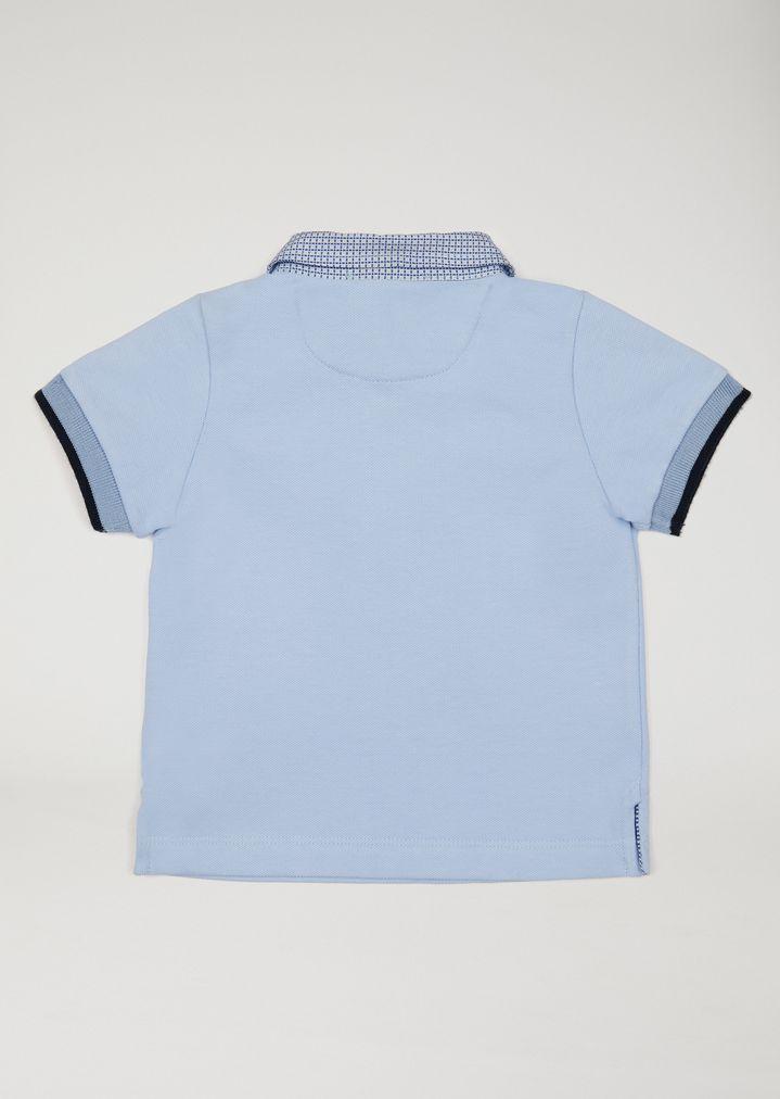 Men/'s short sleeve pique biz collection pique polo shirt spring blue size XL NWT