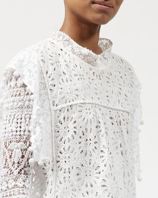 ISABEL MARANT TOP Woman KERY top in broderie anglaise  r
