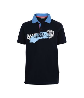 NAPAPIJRI K ENI JUNIOR KID SHORT SLEEVE POLO,DARK BLUE