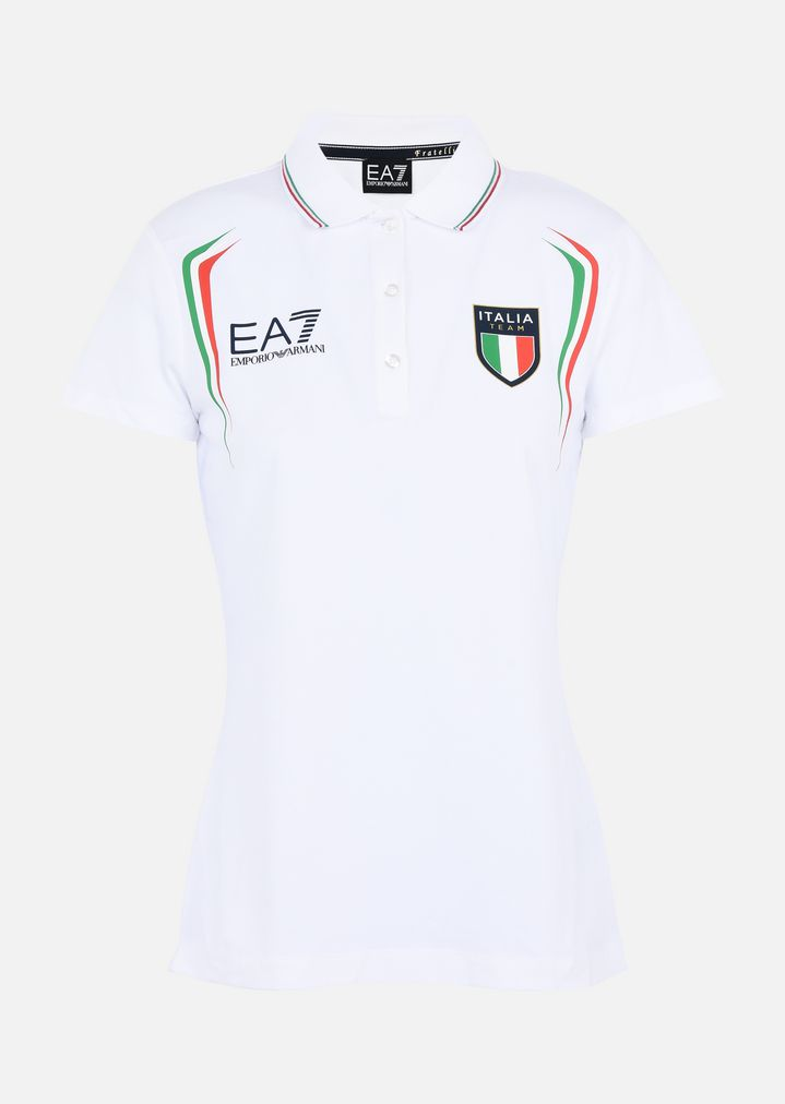 682df4b5 Breathable Fabric Polo Shirt with Emblem | Woman | Ea7
