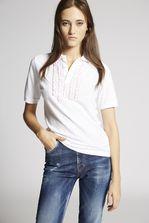 DSQUARED2 Ruffled Polo Shirt Polo shirt Woman