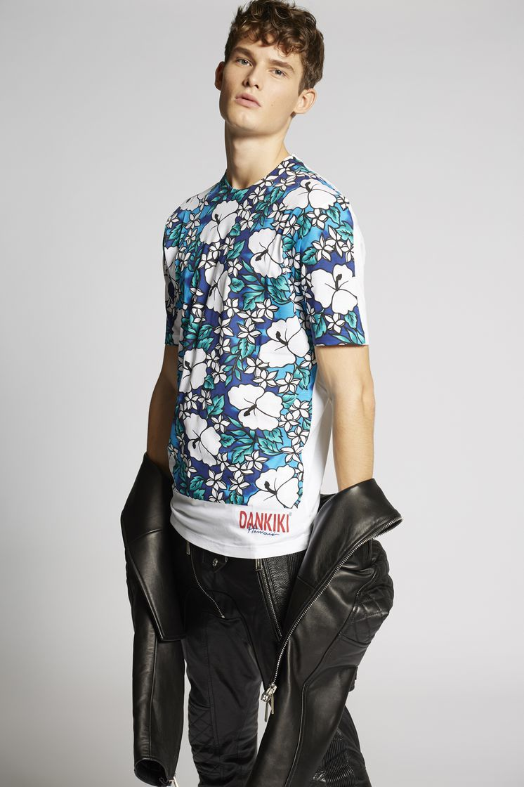 DSQUARED2 Hibiscus T-Shirt Short sleeve t-shirt Man