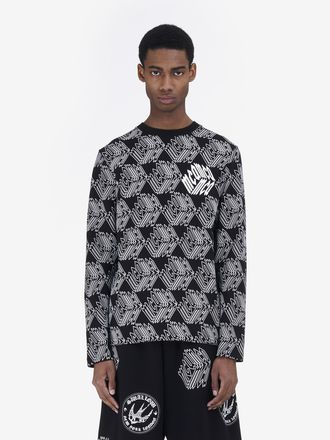 All-over McQ Cube Long-Sleeved T-Shirt