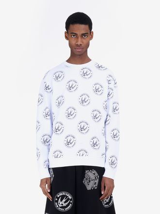 All-over Swallow Badge Sweatshirt