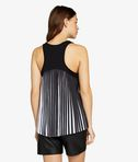 Pleated Back Logo Tank Top