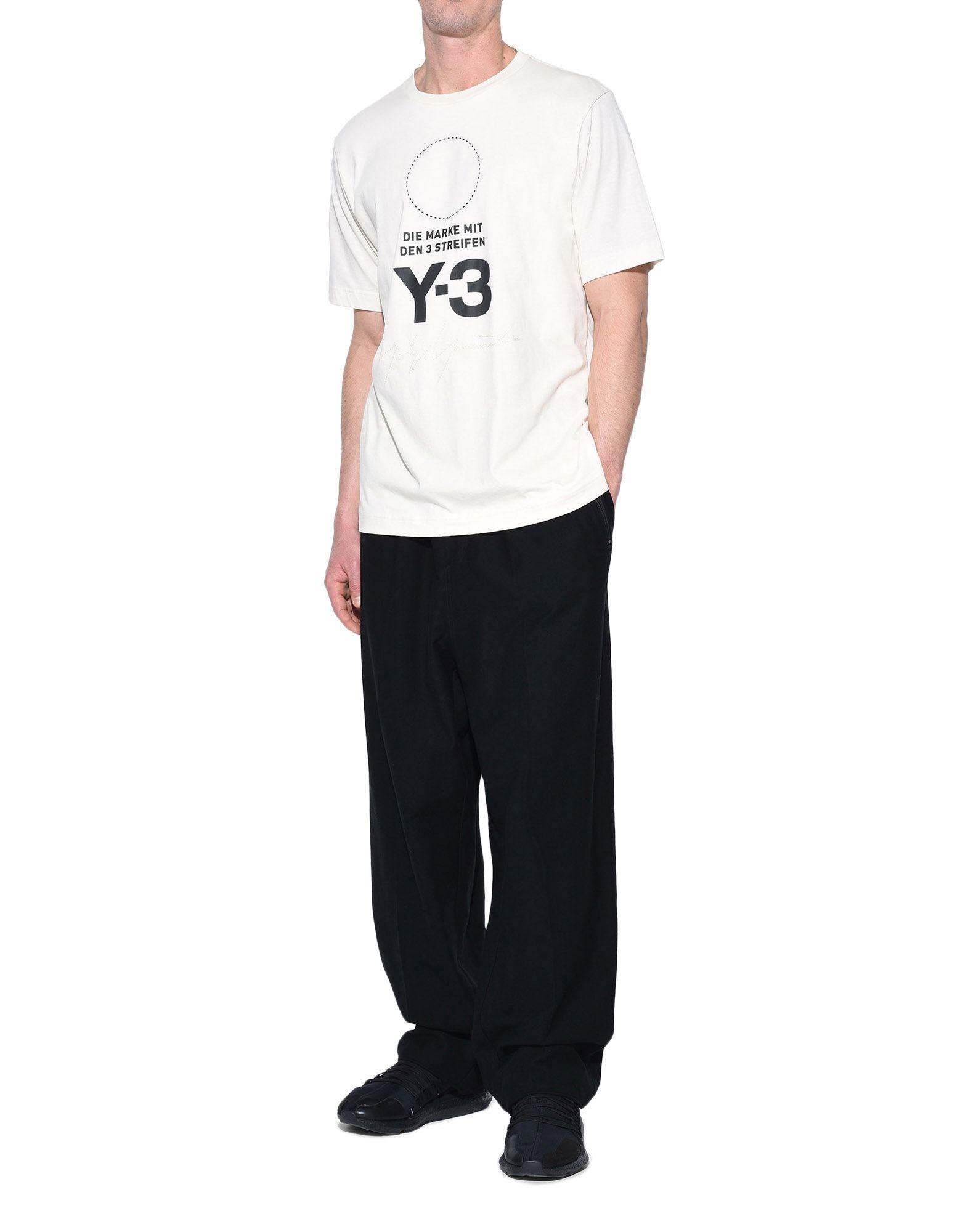 Y-3 Y-3 Stacked Logo Tee Short sleeve t-shirt Man a