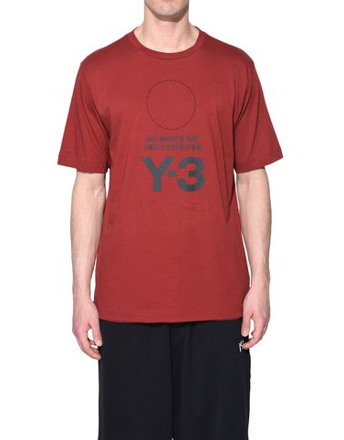 Y-3 T シャツ メンズ Y-3 Stacked Logo Tee r