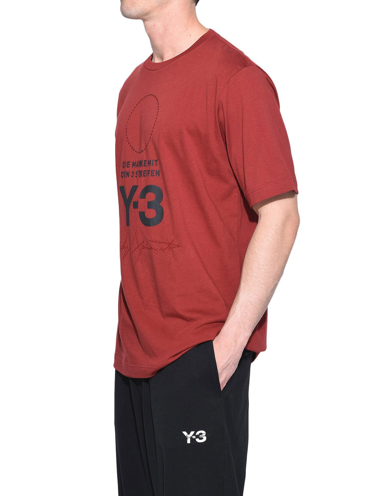 Y-3 Y-3 Stacked Logo Tee Short sleeve t-shirt Man e