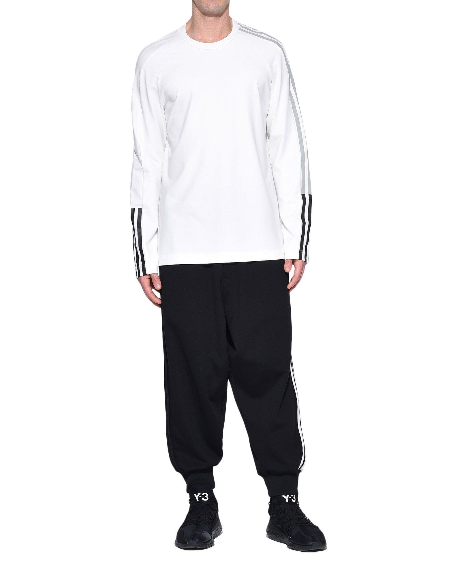 Y-3 Y-3 3-Stripes Tee Long sleeve t-shirt Man a