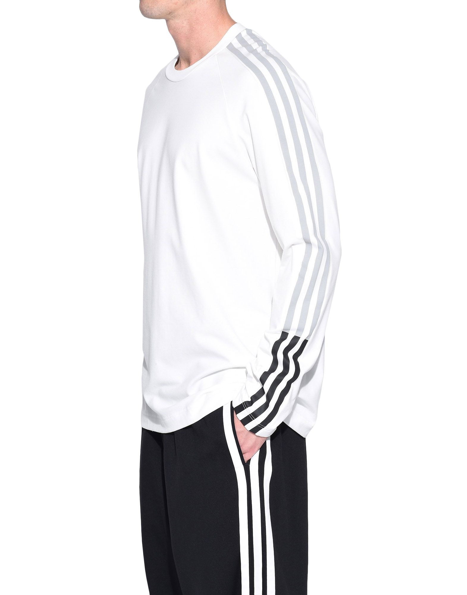 Y-3 Y-3 3-Stripes Tee Long sleeve t-shirt Man e