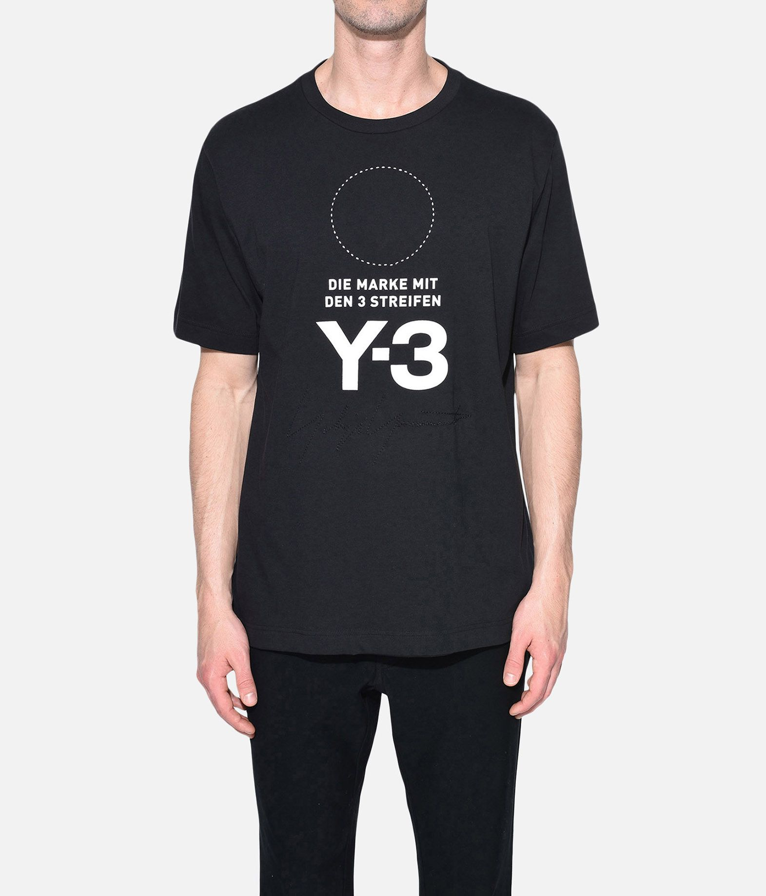 Y-3 Y-3 Stacked Logo Tee Short sleeve t-shirt Man r