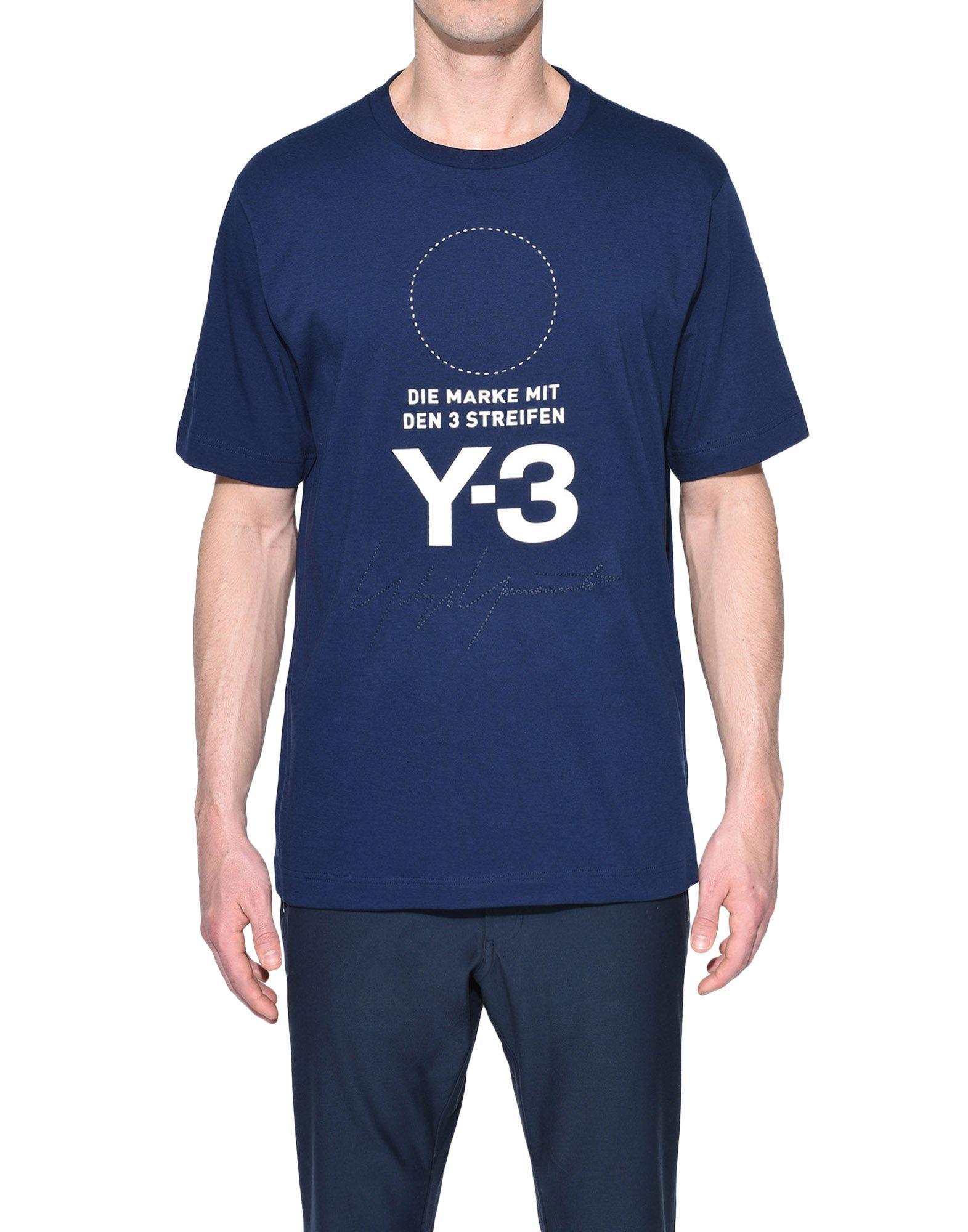 Y-3 Y-3 Stacked Logo Tee Short sleeve t-shirt Man r