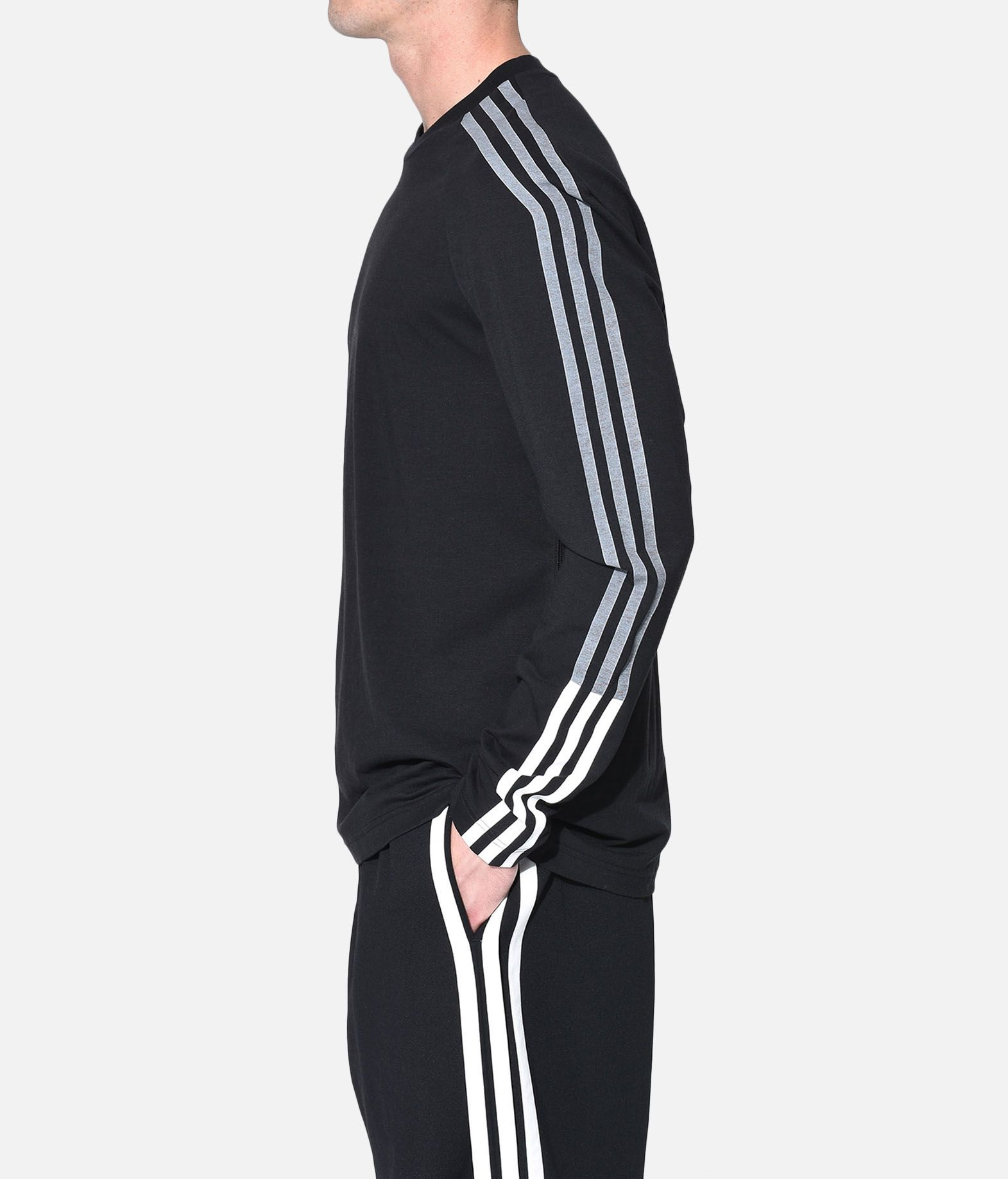 Y-3 Y-3 3-Stripes Tee Long sleeve t-shirt Man e
