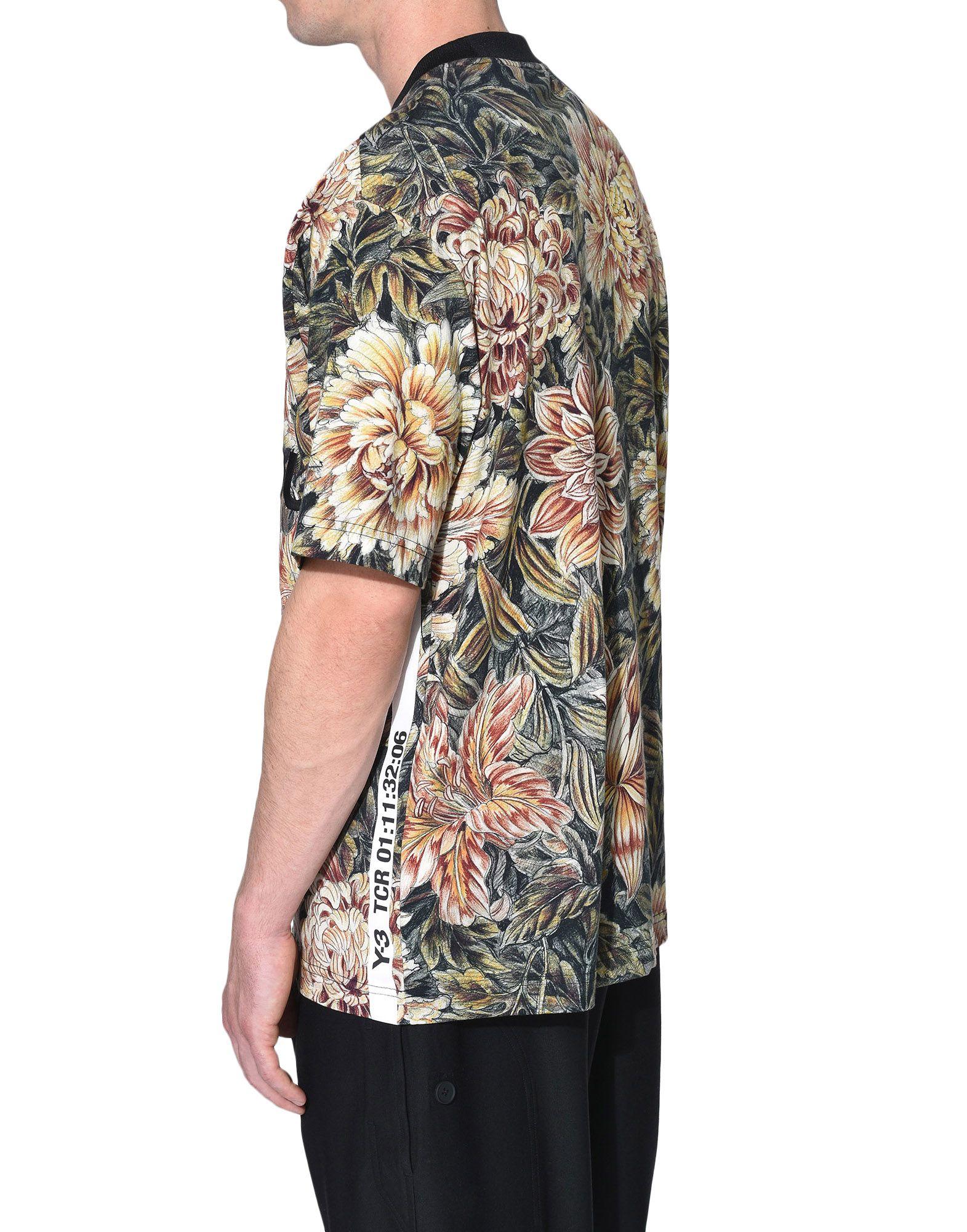 Y-3 Y-3 AOP High Neck Tee Short sleeve t-shirt Man e