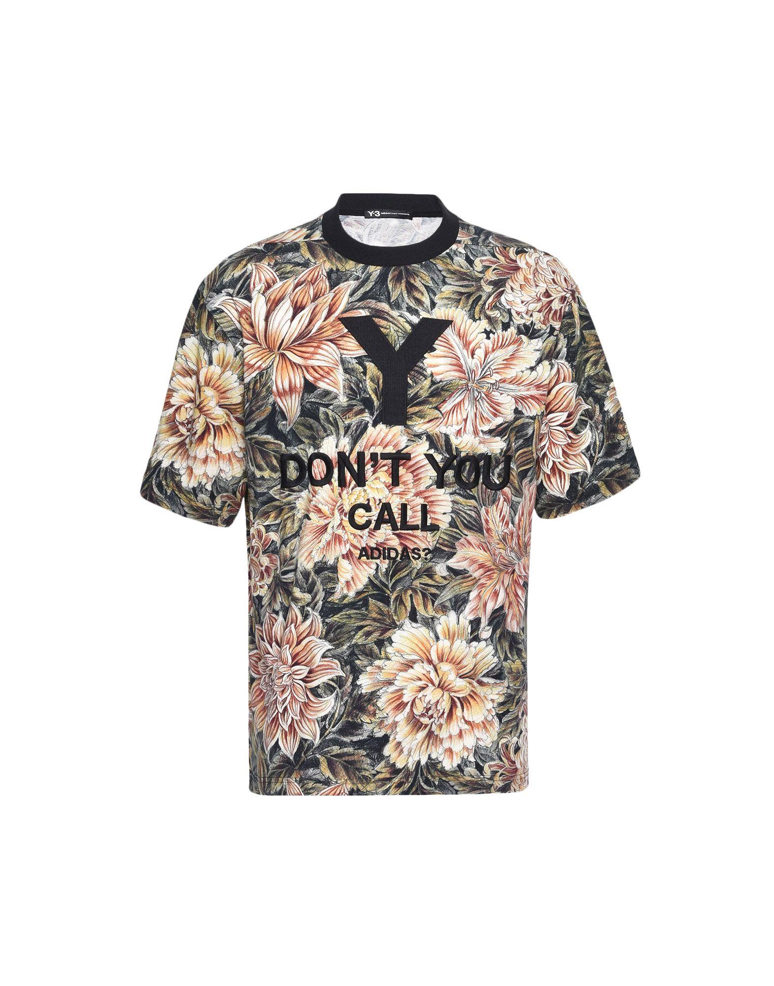 Y-3 Y-3 AOP High Neck Tee Short sleeve t-shirt Man f