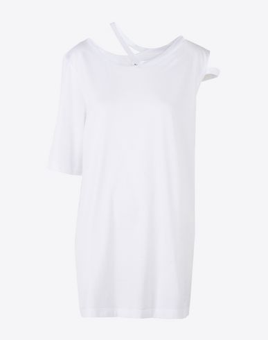 MAISON MARGIELA Short sleeve t-shirt D Deconstructed asymmetric cotton T-shirt f