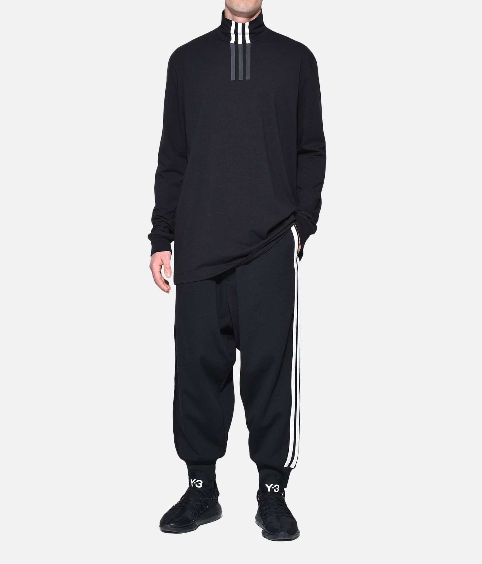 Y-3 Y-3 3-Stripes High Neck Tee Long sleeve t-shirt Man a