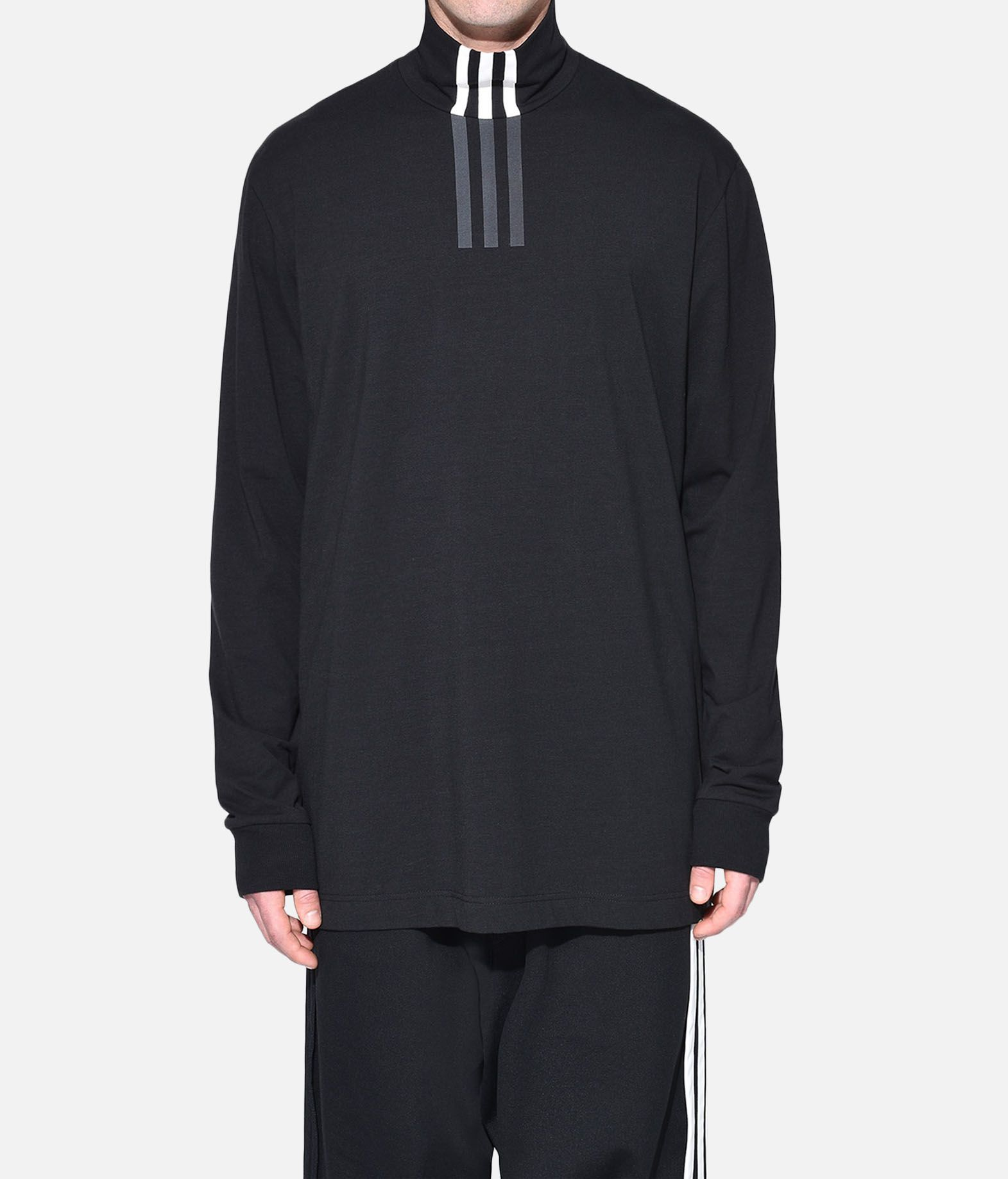 Y-3 Y-3 3-Stripes High Neck Tee Long sleeve t-shirt Man r
