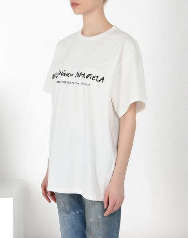 MM6 MAISON MARGIELA Short sleeve t-shirt Woman Basic cotton T-shirt f