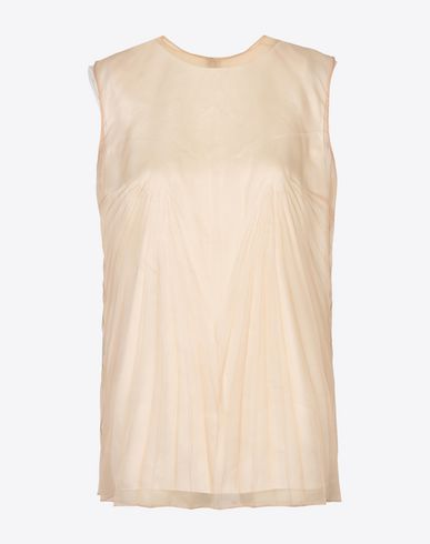 MAISON MARGIELA Pleated silk organza top Top D f