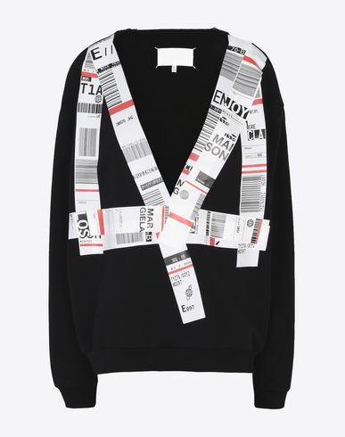 "MAISON MARGIELA Sweatshirt with ""Baggage Tag"" pattern Sweatshirt Woman f"