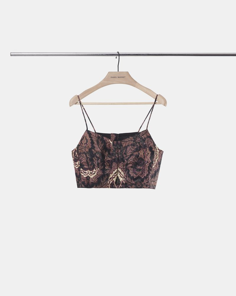 MODDY printed crop top ISABEL MARANT