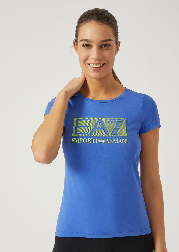 8224630e85 T-shirt in jersey di cotone stretch   Donna   Ea7