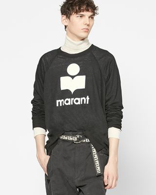 ISABEL MARANT T-SHIRT Man KIEFFER long sleeved logo T-shirt r