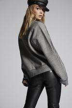 DSQUARED2 Tulle Jersey Ruffled Sweatshirt Sweatshirt Woman