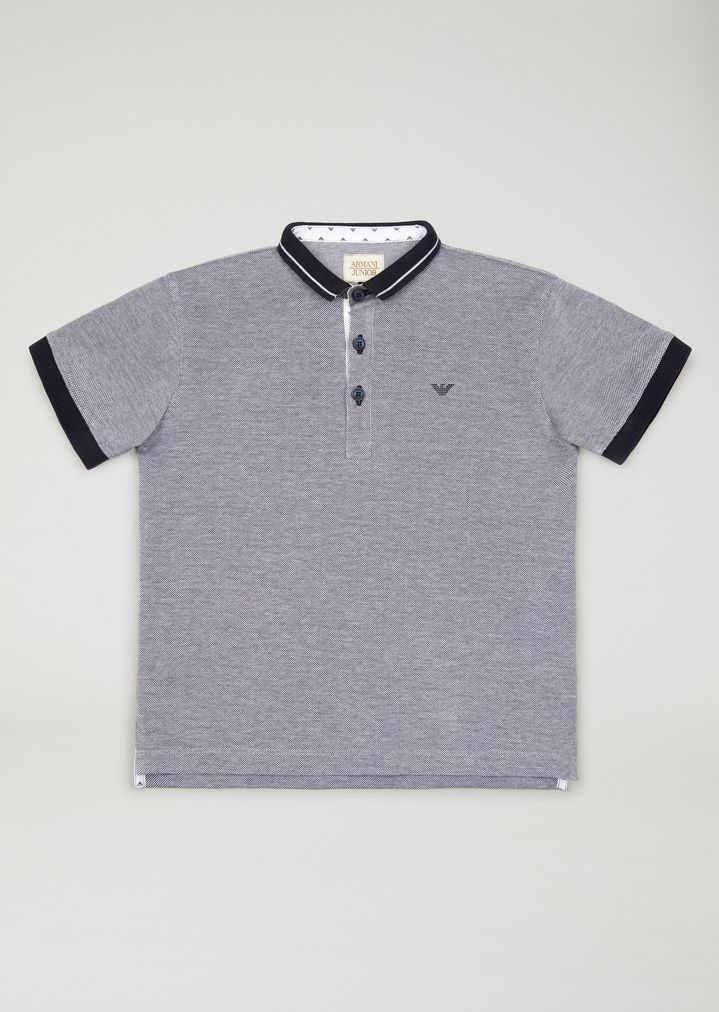 321efc6b EMPORIO ARMANI Polo shirt with contrast trims Polo Shirt Man f