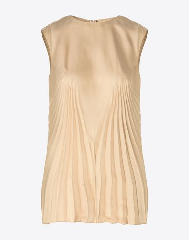 MAISON MARGIELA Pleated twill top Top D f