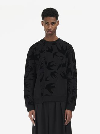 Swallow Swarm Cut-Up Sweatshirt