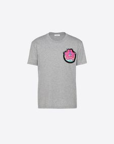 VALENTINO UOMO T-shirt U Hotel T-shirt with patch detail f