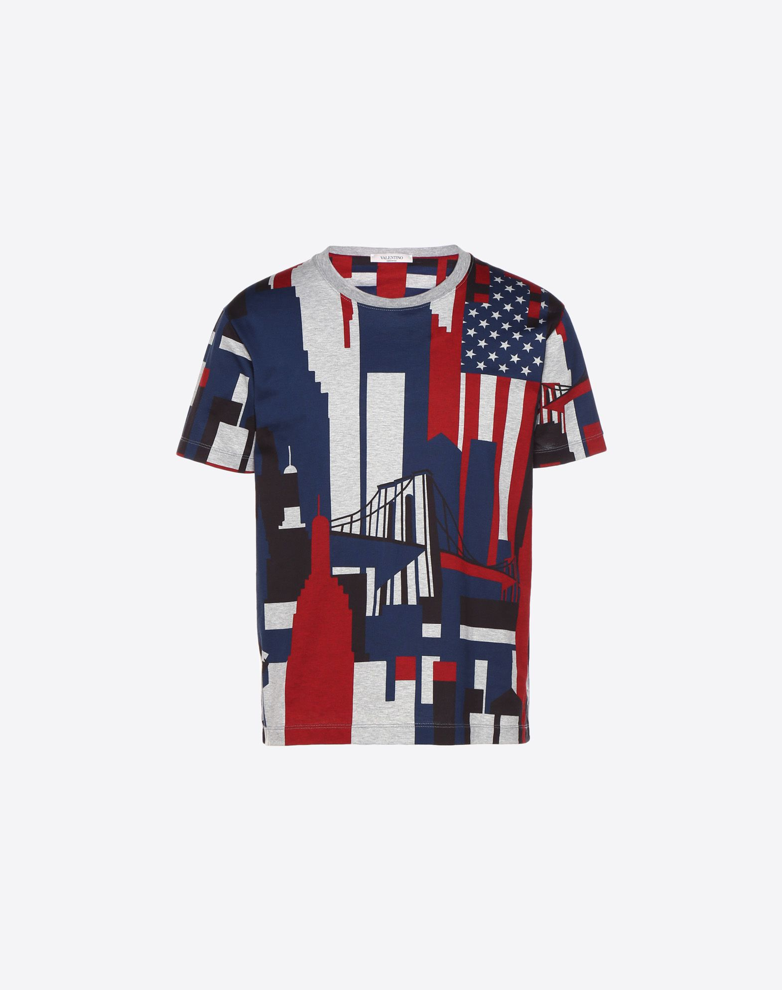 VALENTINO CAMOU CITIES PRINTED T-SHIRT