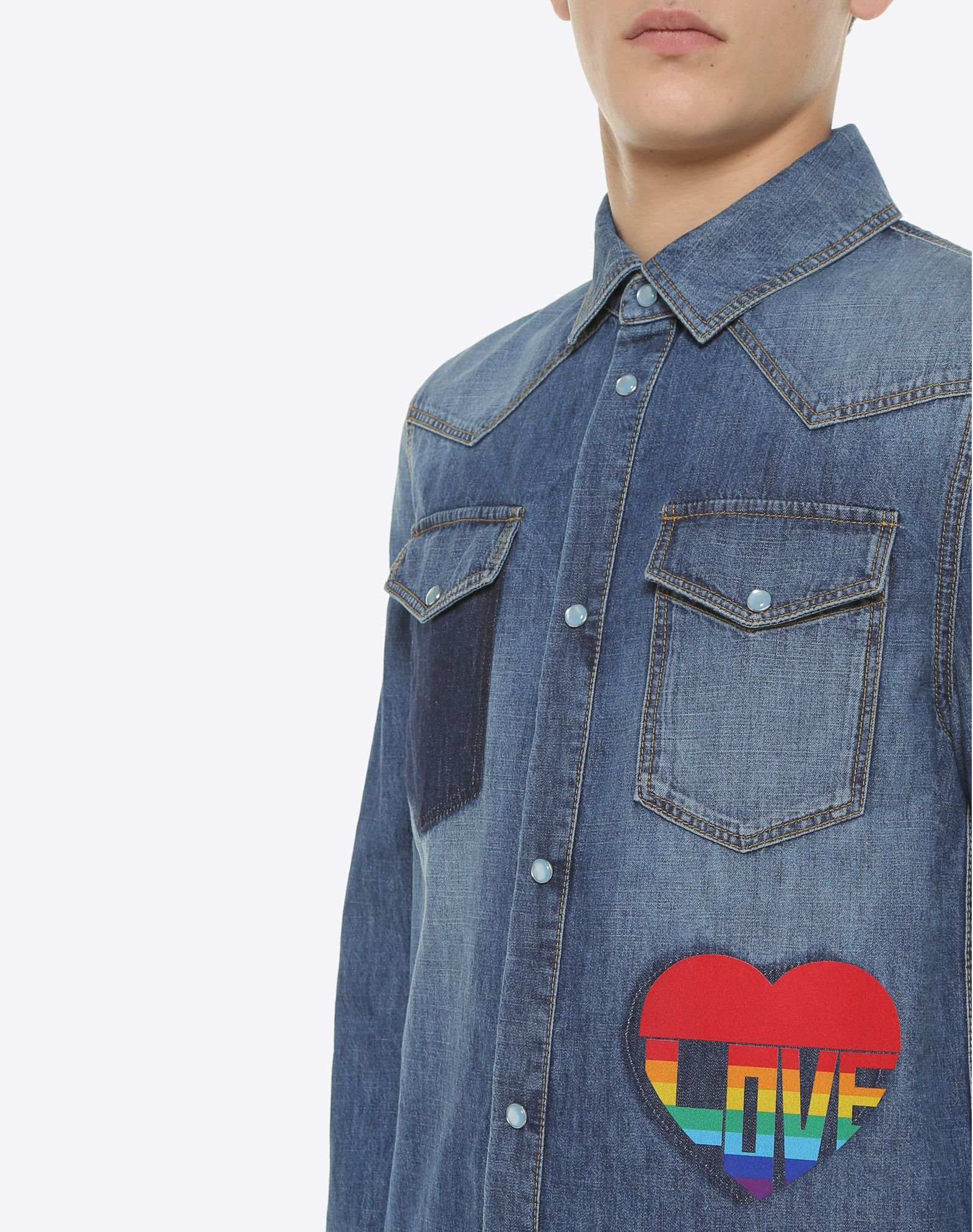 VALENTINO UOMO Love denim shirt Shirt U a
