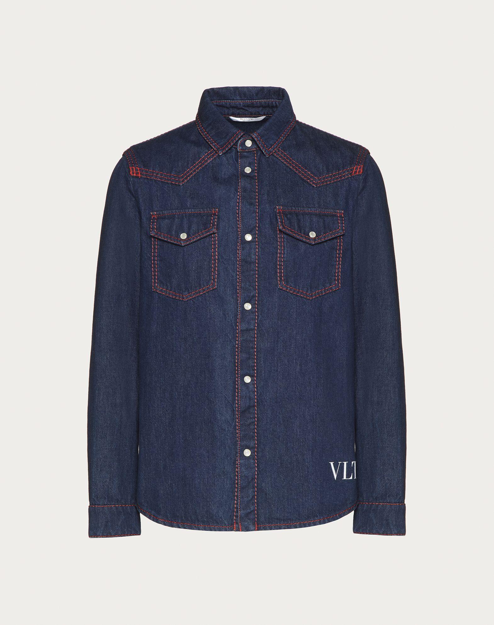 VALENTINO UOMO Camisa de denim VLTN Camisa U f