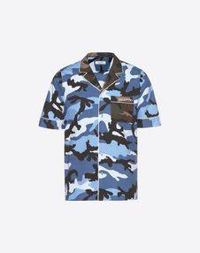 VALENTINO UOMO Shirt U Camouflage-print bowling shirt f