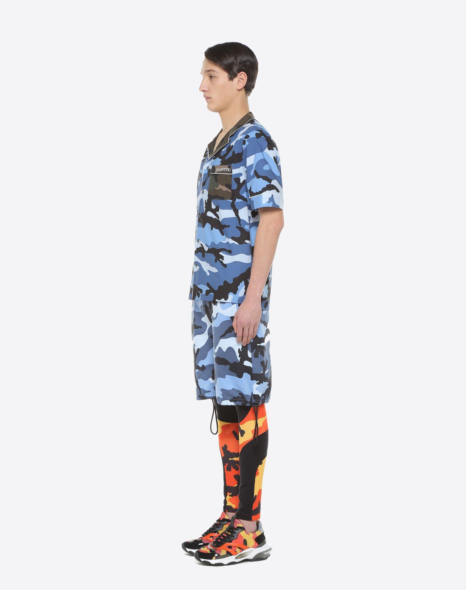 VALENTINO UOMO Camouflage-print bowling shirt Shirt U d