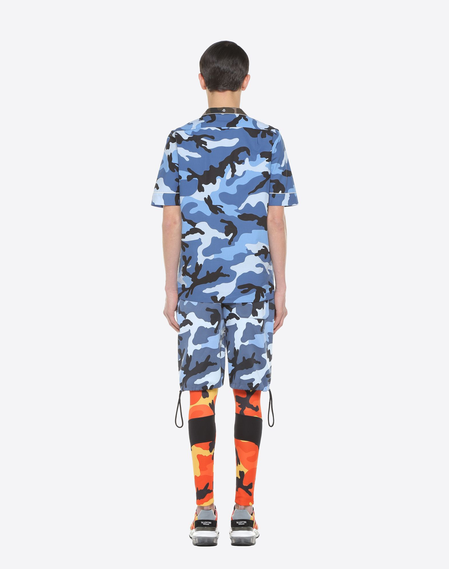 VALENTINO UOMO Camouflage-print bowling shirt Shirt U e