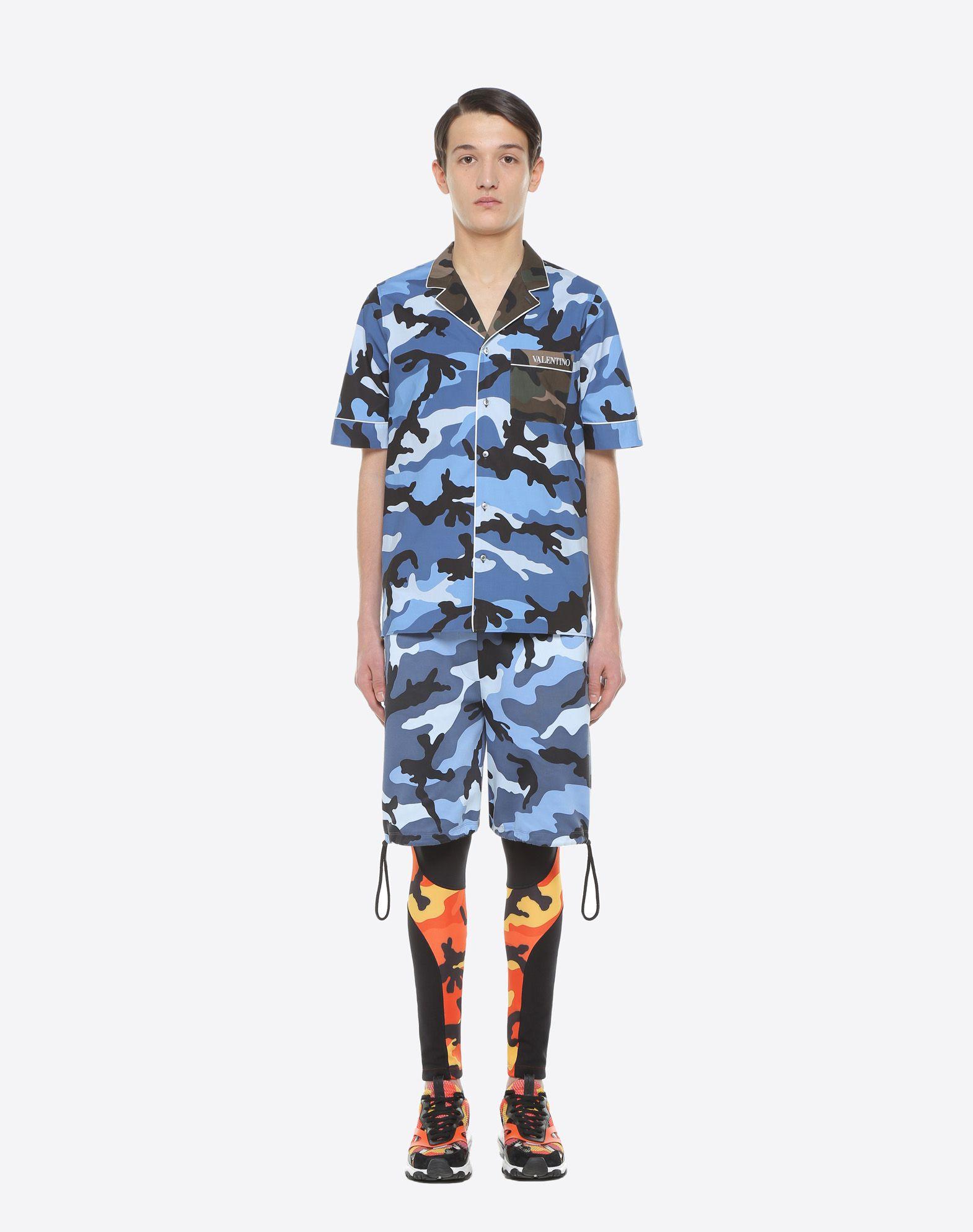 VALENTINO UOMO Camouflage-print bowling shirt Shirt U r