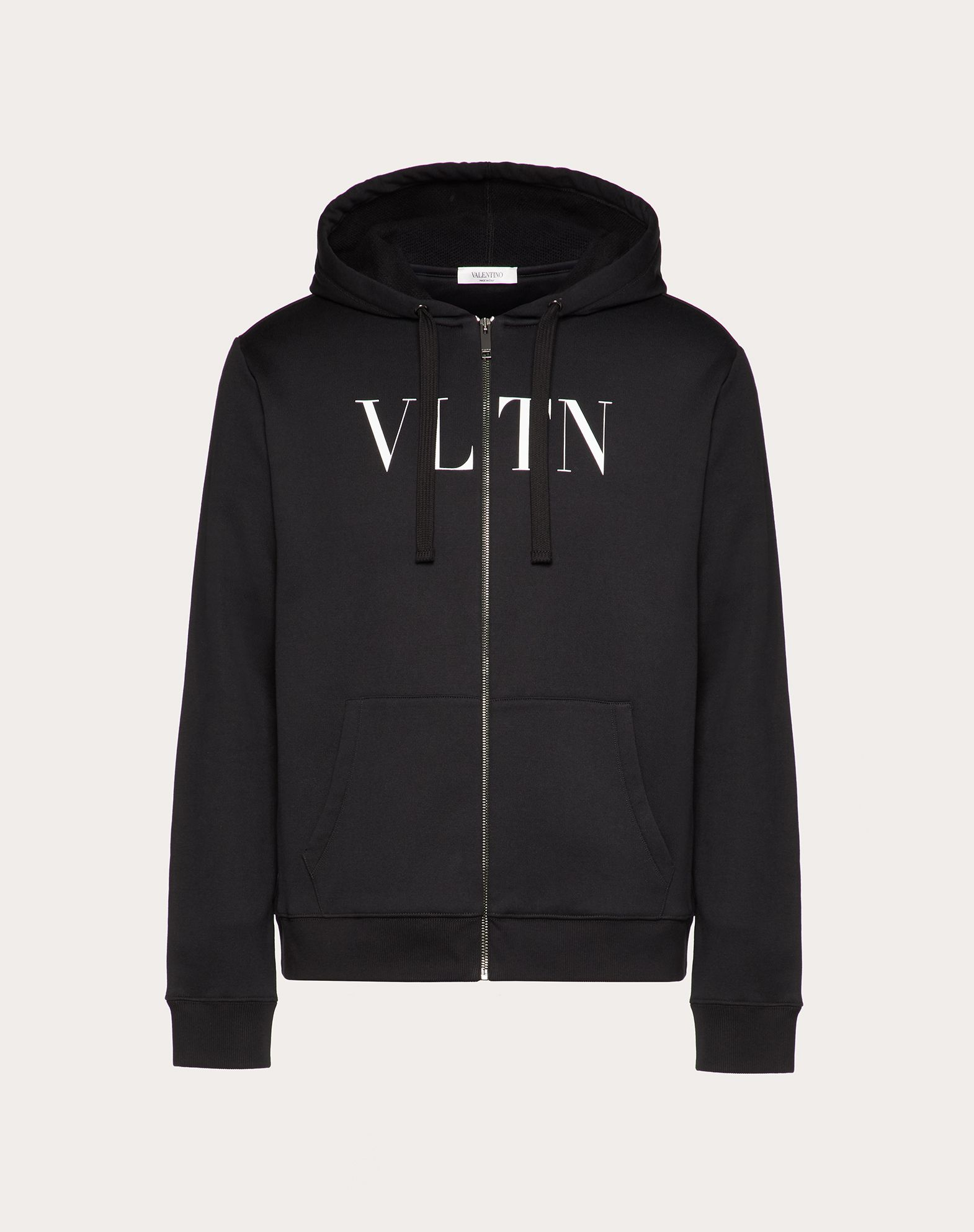 VALENTINO Logo Round collar Two front pockets Zip  12177569ps
