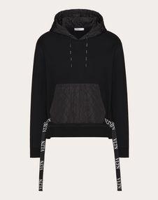 VALENTINO UOMO Sweatshirt U Sweatshirt with VLTN nylon hood f