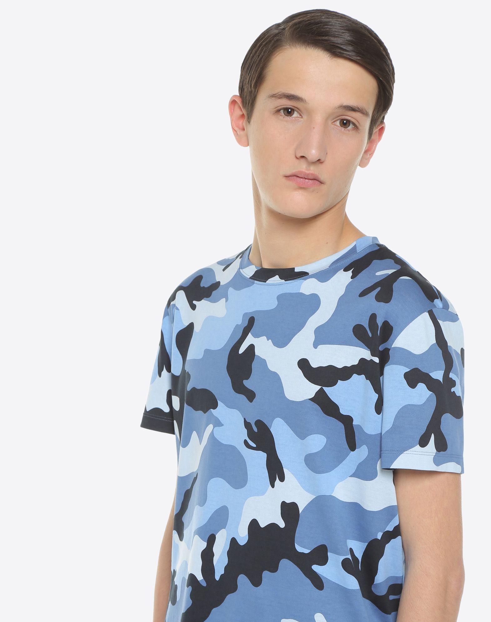 VALENTINO UOMO Camiseta de camuflaje Camiseta U a