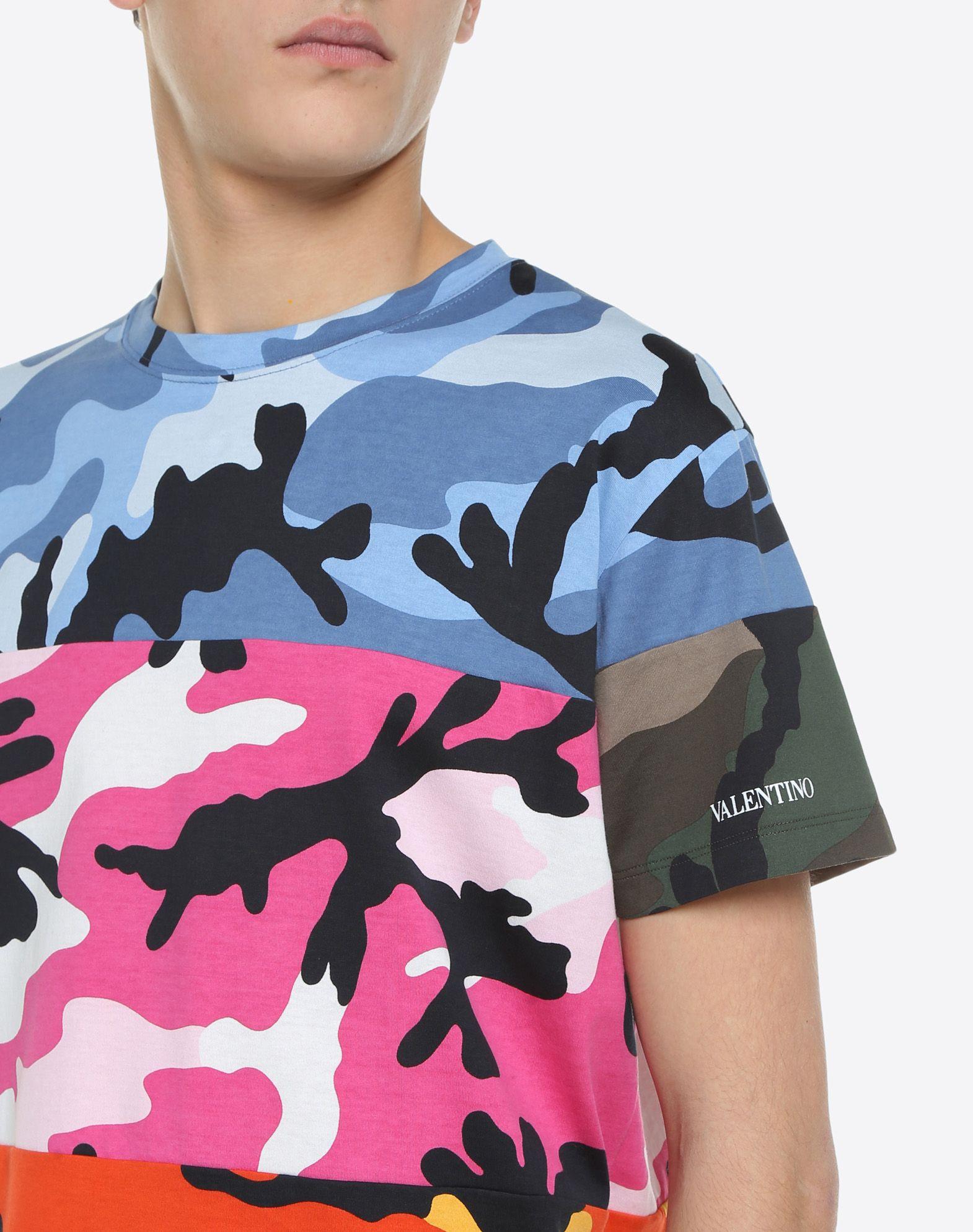 VALENTINO UOMO Camiseta Camou Shuffle Camiseta U a