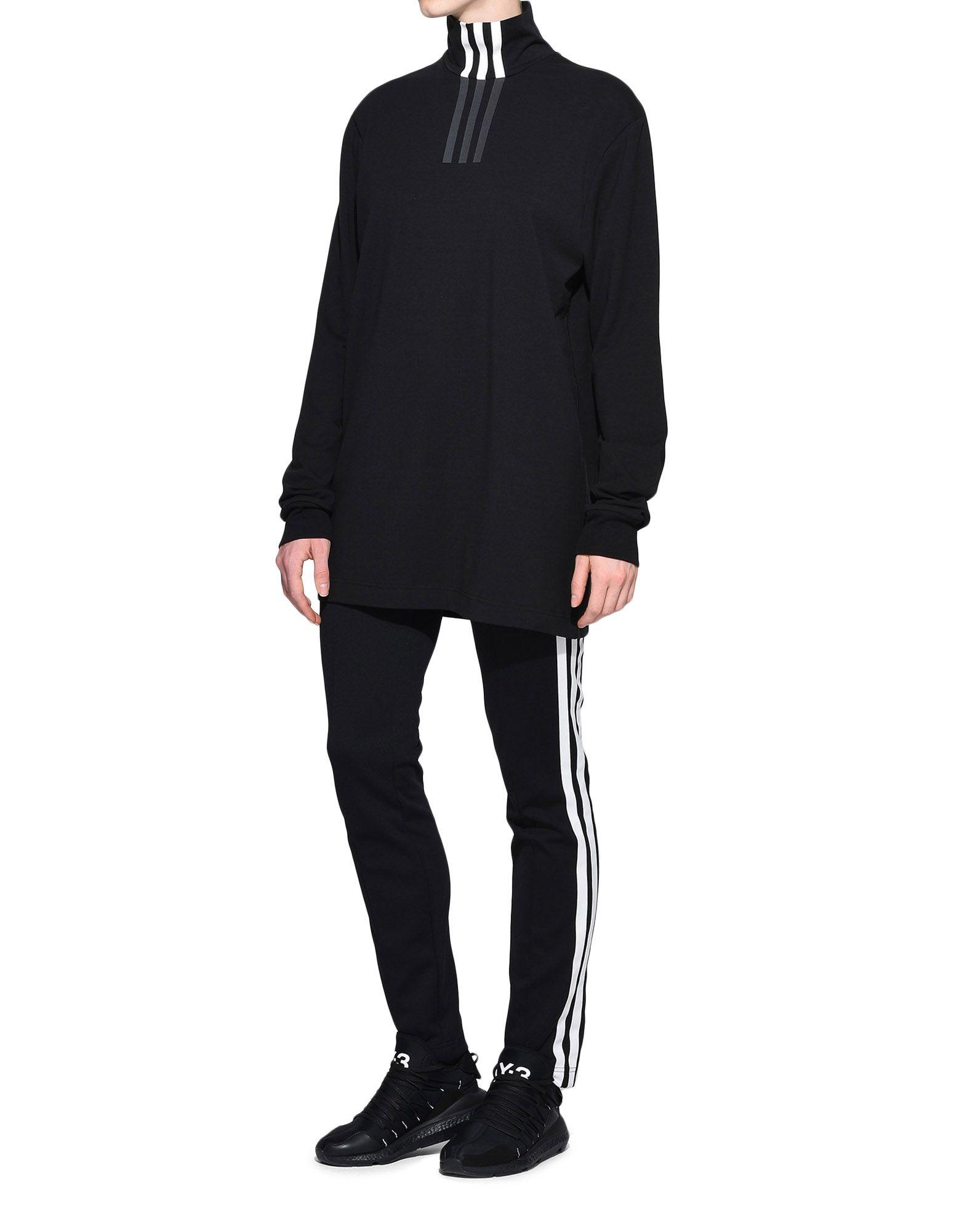 Y-3 Y-3 3-Stripes High Neck Tee Long sleeve t-shirt Woman a
