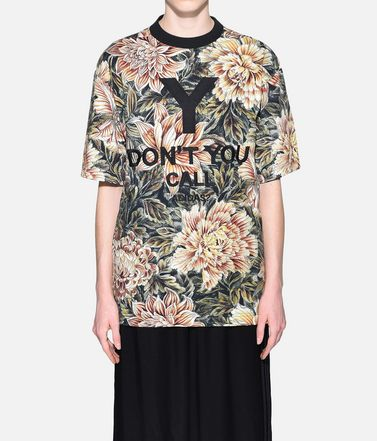 Y-3 Short sleeve t-shirt Woman Y-3 AOP High Neck Tee r