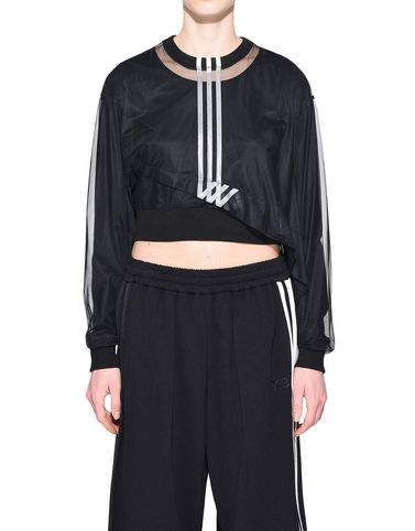 Y-3 3-Stripes Mesh Cropped Tee TEES & POLOS woman Y-3 adidas